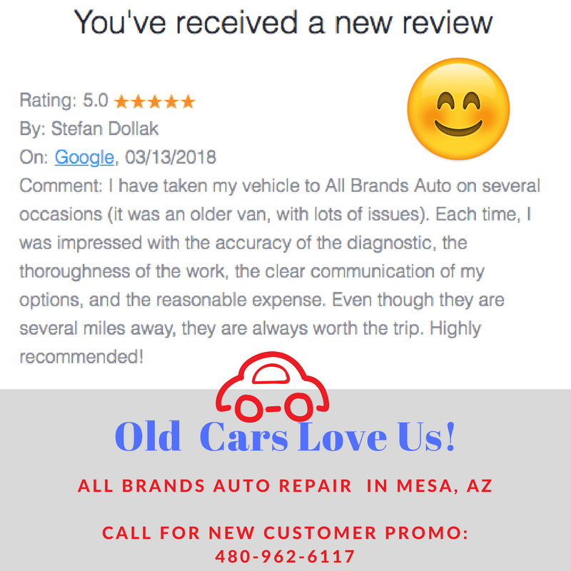 Old Car Repair Review for All Brands Auto Shop